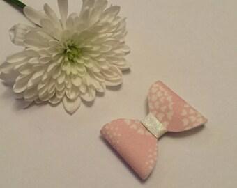 Fabric felt pink flower childrens girls baby bow