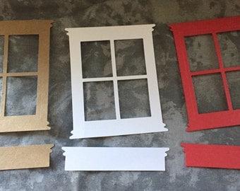 Window frame die cut / embelliment