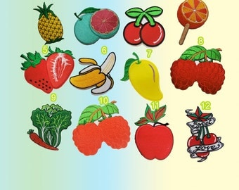 Nature Patches Fruits cabbage patch clothes e Apple Patches iron on Patch embroidered patch custom New