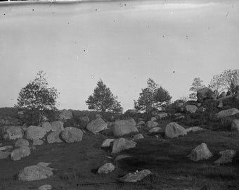 Antique Glass photo Negatives,  lot of 5, Late 1800's, Scenery