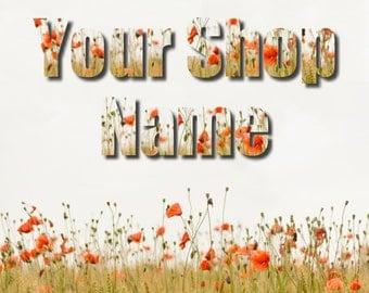 Poppie Banner Set, Floral Banner Set, Shop Banner Set, Banner Set, Custom Banner, Banner Design, Graphic Design, Cover Photo, Premade Banner