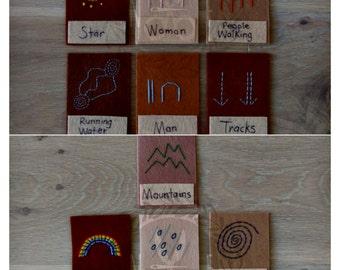 Aboriginal Symbol Felt Cards