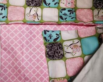 Sweet baby girl burp cloth, security blanket, nursing blanket