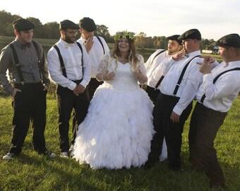 Sasha Couture Chiffon and Lace Ballgown Wedding Dress