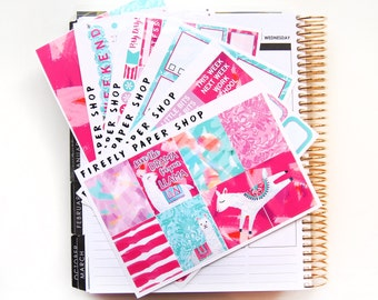 Llama Drama Weekly Kit (stickers for Erin Condren Life Planner - Vertical)