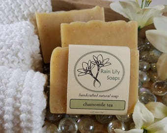 Chamomile Tea Soap, Natural Soap, Handcrafted Soap, Natural Bar Soap, Essential Oil Soap, Herbal Soap