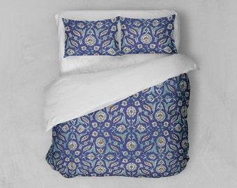 turkish mosaic duvet cover set blue duvet cover king duvet cover nautical decor