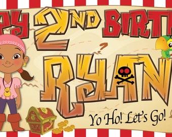 Jake and The Neverland Pirates-Customized-Birthday Banner