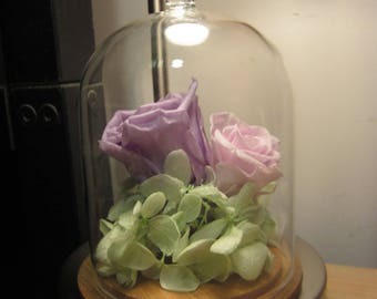 Preserved flower | pink and purple |Personalization | Wedding Gift |Home Decoration