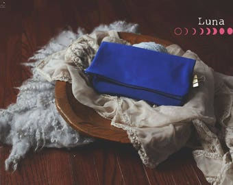 Royal Blue Foldover Clutch