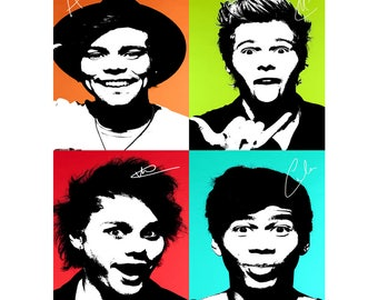 5 Seconds of Summer pop art pre signed photo print poster - 12x8 inches (30cm x 20cm) - Superb quality N.0 3