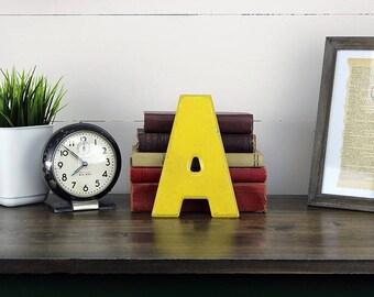 """Vintage Metal Letter """"A"""", Vintage Sign Letter A, Metal A"""