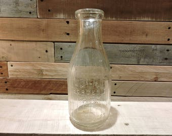 Bordens One Quart Condensed Milk Bottle, Vintage Milk Bottle, Antique Milk Bottle, Milk Bottle, Dairy Bottle