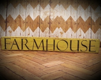 Farmhouse Sign from Reclaimed Chair