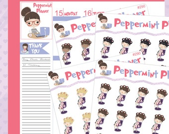 Getting that Hair Done Planner Stickers #290