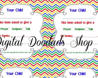 LDS Primary Talk Reminders