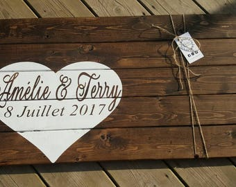 Wedding Guest Book Alternative| Rustic Wedding Guest Book | Custom Wood Guest Book | Wedding 2017 | Made in Canada