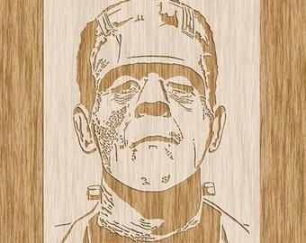 """Boris Karloff's Frankenstein's Monster Stencil - Sku H0102 (8.5"""" x 11"""")"""