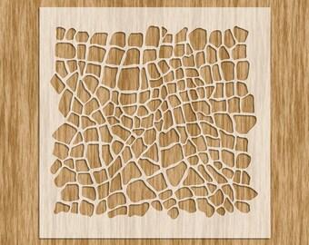 """Alligator Skin Stencil - Sku AP0110 (8.5"""" x 8.5"""")"""