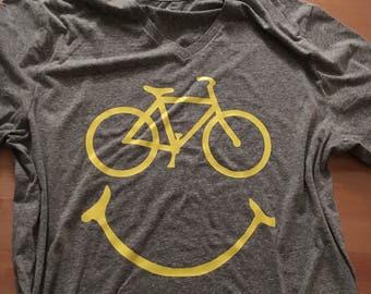 Bike Happy - Tri-Blend Tee