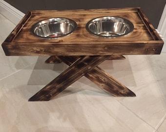 elevated dog feeding station raised dog bowls customized dog feeding stand custom dog