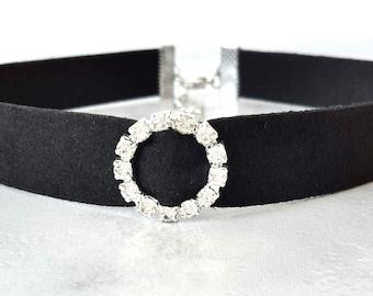 Black Diamond Choker Etsy