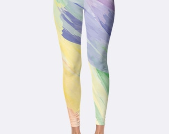 Athletic Leggings // Fitness Leggings // Running Leggings // Yoga Leggings // Printed Leggings // Womens Leggings // Teen // Watercolor