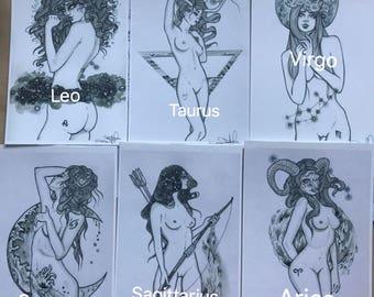 Fourfires Zodiac Prints