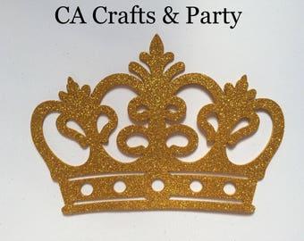 Foam prince crown gold 10 PCS, king crown, princess crown tiara, princess birthday,it's a boy, little prince baby, gold crown centerpieces.