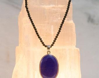 Lapis Lazuli & Black Tourmaline Necklace