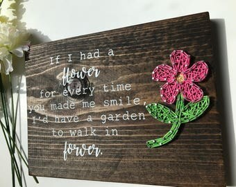 Mother's Day gift - photo frame and quote Free shipping