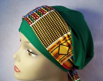 Green cap african scarf