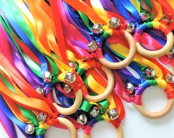 Rainbow Party Favors, SALE, 15 Party Favors, Musical Party Favors for Kids, Rainbow Birthday, Summer Party Favors