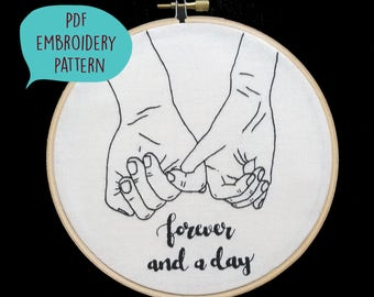 PDF embroidery pattern for Forever and a day by galemofre