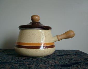 1970s Enamel Pot