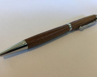 Chrome Tasmanian Blackwood Slimline Pen