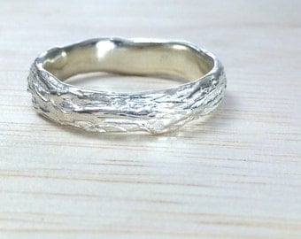 Branch wedding ring Nature wedding band Twig wedding band