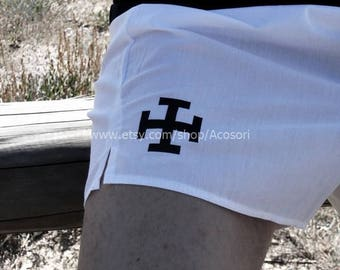 Crutch Cross Cross Béquille on Boxer shorts