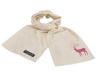 Scatwell stag Childrens cashmere Scarf