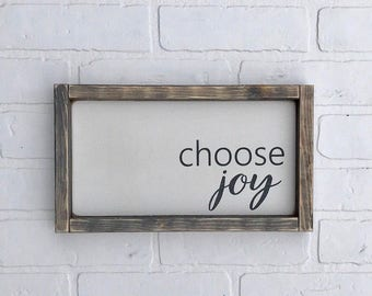 "CHOOSE JOY SIGN | 7"" x 12.5"" 