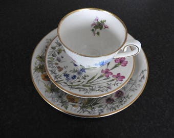 Vintage!Franconia K&A Krautheim Selb Bavaria Set of 3 coffee cup and saucer, small plate/1964