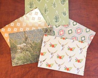 5 Blank Cards + Envelopes Desert Theme (Size A2)