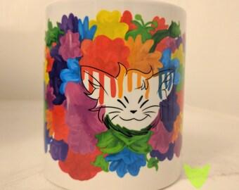 Flower Cat Mug