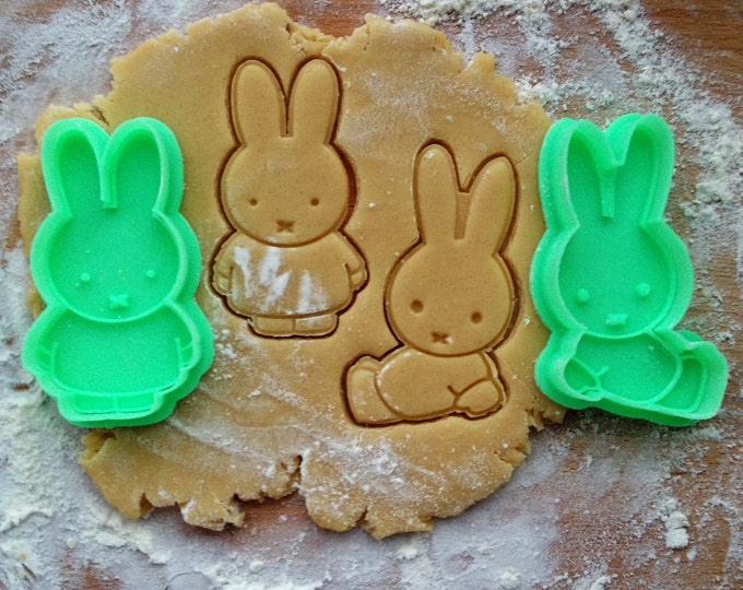 Miffy cookie cutter. Miffy rabbit cookie stamp. Baby shower cookies