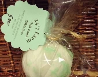 Bath Bomb White Pear 5 oz
