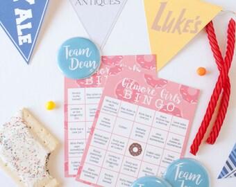 Gilmore Girls Party Kit//Banner, Badges, & Bingo INSTANT DOWNLOAD Printable