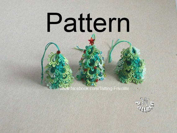 Christmas Tree 3D, PDF Tatting Pattern, Christmas