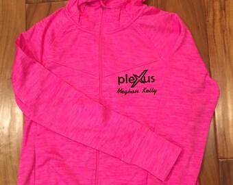 Personalized  Embroidered Plexus zip up hooded sweatshirt