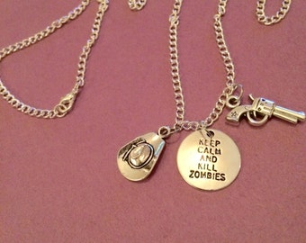 The Walking dead inspired necklace , The walking dead jewellery, The Walkkng dead gifts item176 by CraftyLittemonkeyGB