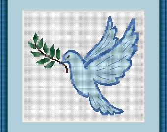 Bird cross stitch pattern Bird design cross stitch Bird lover gift Dove Cross Stitch Bird Pattern Design cross sitch bird Dove lover gift